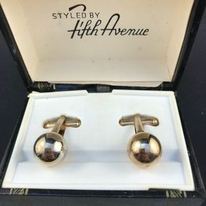 Vintage Shields gold ball cufflinks